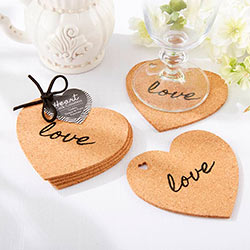 """Heart"" Cork Coasters"