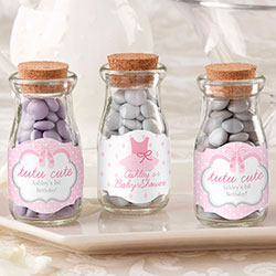 Personalized Milk Jar - Tutu Cute (Set of 12)