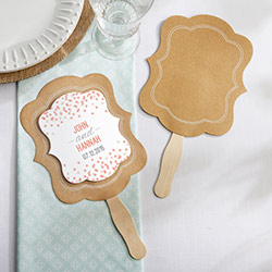 Personalized Kraft Hand Fan  (Set of 12)