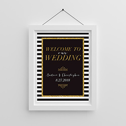 Personalized Poster (18x24) - Classic Wedding
